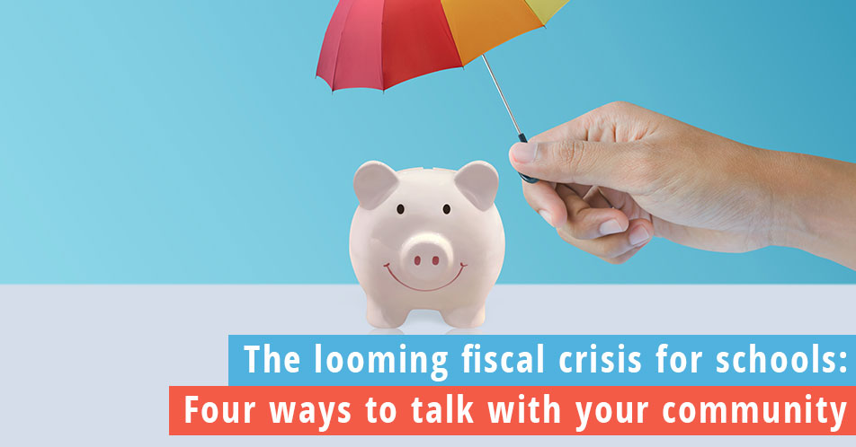How to talk to your community about finances, piggy bank with a colorful umbrella